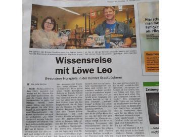 Leo im Westfalen Blatt