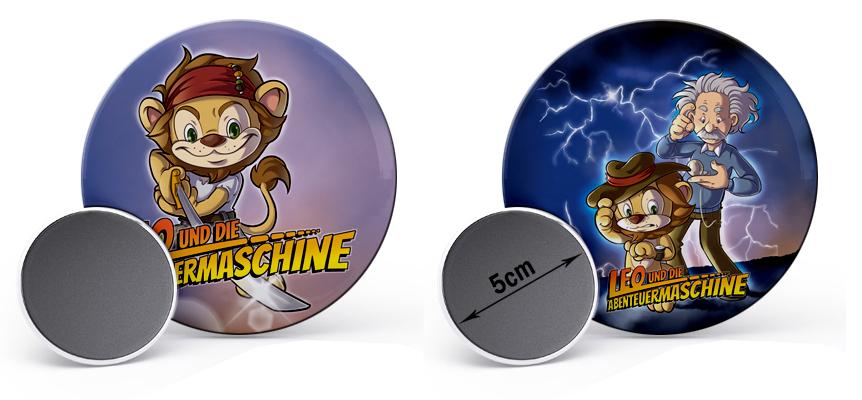 Exklusive Leo und die Abenteuermaschine Magnete